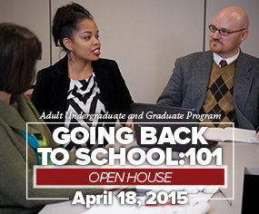 Going back to school is easy. Learn how at our Adult Undergraduate & Graduate Open House.