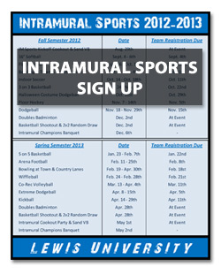 Intramural Sports Sign U