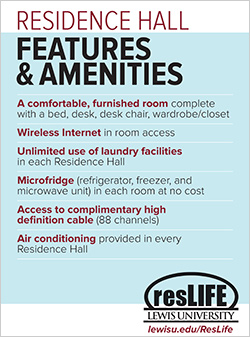 Residence Hall Features & Amenities