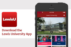 Stay connected. Download the LewisU app.